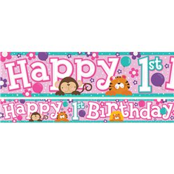 Happy 1st Birthday Banners 1 design 1m each