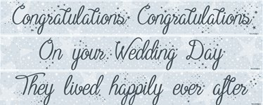Wedding Paper Banners 3 designs 1m each