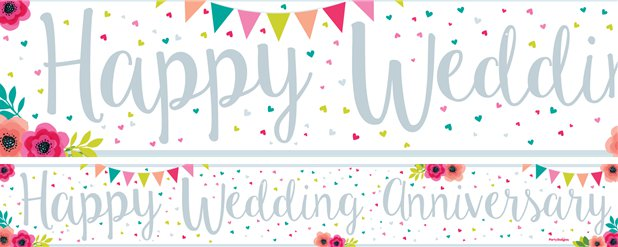 Wedding Anniversary Banners 1 design 1m each