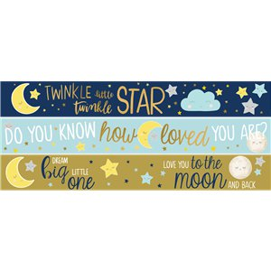 Little Star Party Paper Banners - 3 designs 1m each