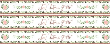 Love & Leaves Paper Banners - 3 Designs 1m each