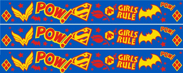 DC Super Hero Girls Paper Banners - 1m