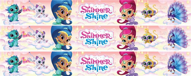 Shimmer & Shine Paper Banners - 1m