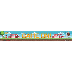 Game On Paper Banners - Assorted Designs 1m each