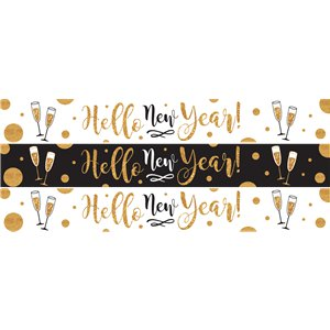 Golden New Year Paper Banners - 1m