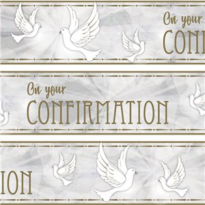 Confirmation Dove Paper Banners - 3 Designs 1m each