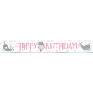 Narwhal Party Paper Banners - 1m