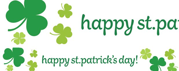 St Patrick's Day Paper Banners - 1m