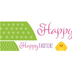 Cute Easter Paper Banners - 1m