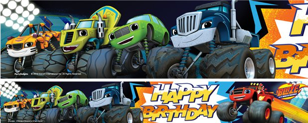 Blaze & The Monster Machines Yard Banner - 3 Designs 1m each