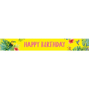 Tropical Fiesta Paper Banners - 3 Banners 1m each