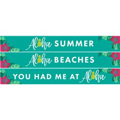 Aloha Summer Paper Banners - 3 Banners 1m each