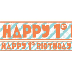 1st Birthday Boy Yard Banner - 3 Designs