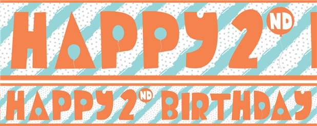 2nd Birthday Boy Yard Banner - 3 Designs