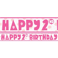 2nd Birthday Girl Yard Banner - 3 Designs