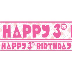 3rd Birthday Girl Yard Banner - 3 Designs