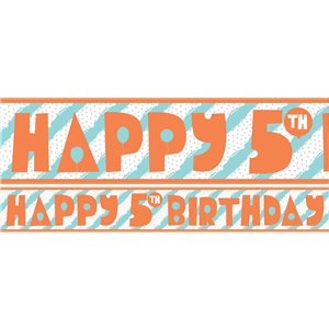 5th Birthday Boy Yard Banner - 3 Designs