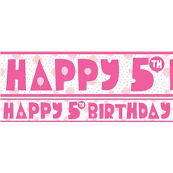 5th Birthday Girl Yard Banner - 3 Designs
