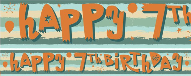 7th Birthday Boy Yard Banner - 3 Designs
