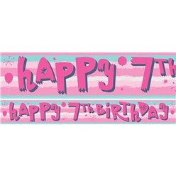 7th Birthday Girl Yard Banner - 3 Designs