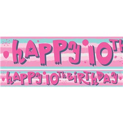 10th Birthday Girl Yard Banner - 3 Designs