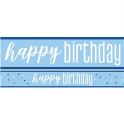 Blue Birthday Glitz Yard Banner - 3 Designs