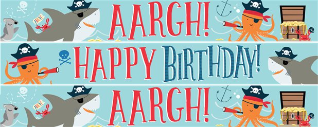 Ahoy Birthday Yard Banners - 3 Designs