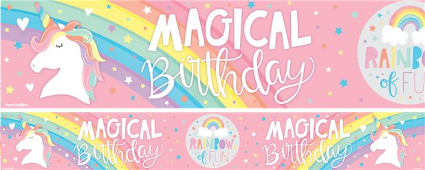 Magical Rainbow Magical Rainbow Paper Banners - 1m