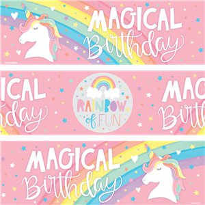 Magical Rainbow Paper Banners - 1m