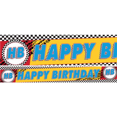Cars Paper Banners - 3 x 1m