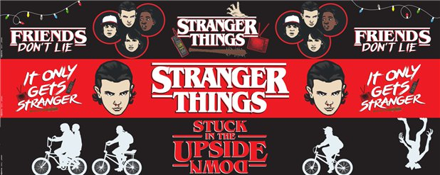 Stranger Things Paper Banners - 1m