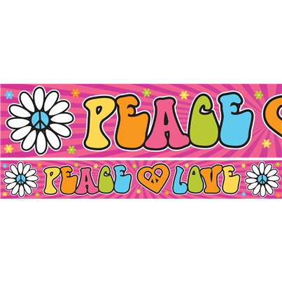 Hippie Party Yard Banners - 1m