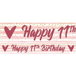 11th Birthday Girl Yard Banner - 3 Designs