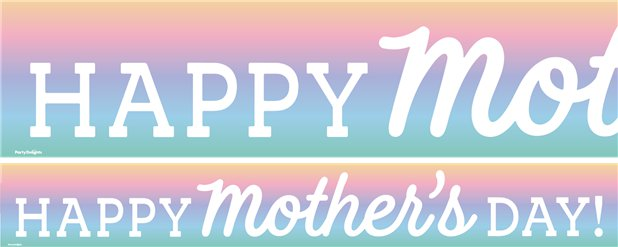 Mother's Day Paper Banners - 1M