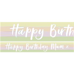 Happy Birthday Mum Paper Banners - 3pk