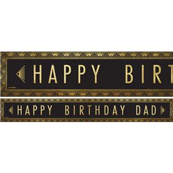 Happy Birthday Dad Paper Banners - 3pk