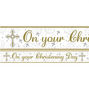 Radiant Cross Christening Banners - 1m