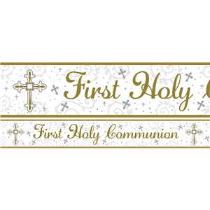 Radiant Cross First Communion Banners - 1m