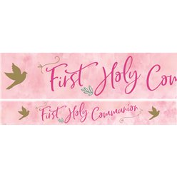 Pink 1st Communion Banners - 1m