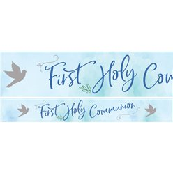 Blue 1st Communion Banners - 1m
