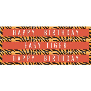 Tiger Print Paper Banners - 1m