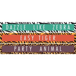 Animal Print Paper Banners - 1m