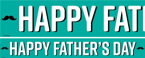 Happy Father's Day Paper Banners - 3pk