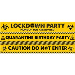 Lockdown Party Paper Banners - 1m