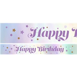 Lilac Happy Birthday Paper Banners - 3pk