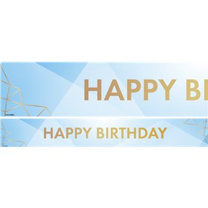 Pastel Blue Happy Birthday Paper Banners - 3pk