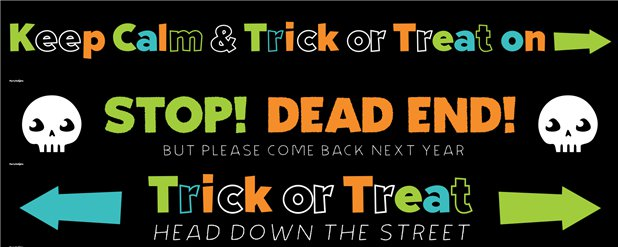 Halloween Door Banners - No Trick or Treaters