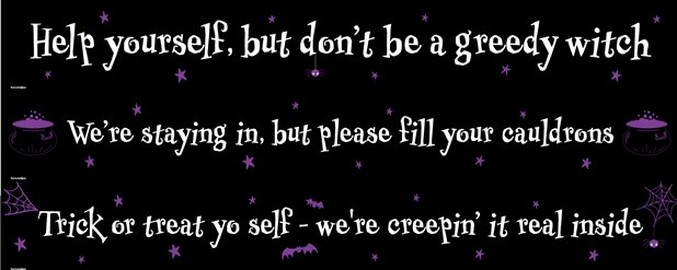 Halloween Door Banners - Help Yourself
