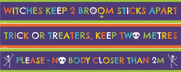 Halloween Door Banners - Keep Your Distance