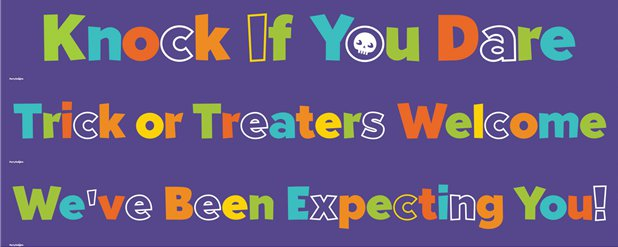 Halloween Door Banners - Trick or Treat